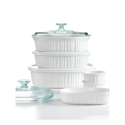 Corningware French White Bakeware, 10 Piece Set