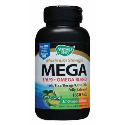 Nature's Way - Omega 3/6/9 Efa Blend, 1350 mg, 90 softgels [Health and Beauty]