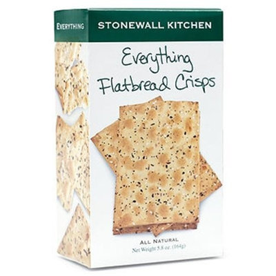 Stonewall Kitchen Everything Flatbread Crisps, 4.9-Ounce (Pack of 3)