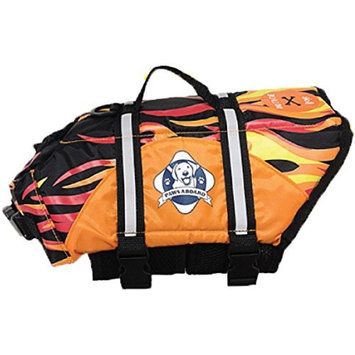 Paws Aboard F1600 Doggy Life Jacket XL Flames