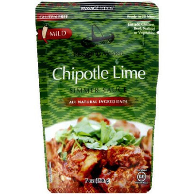 Passage Foods Passage Food Chipotle Lime Mild Simmer Sauce, 7 oz, (Pack of 6)