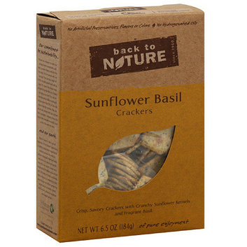 Back To Nature Sunflower Basil Crackers