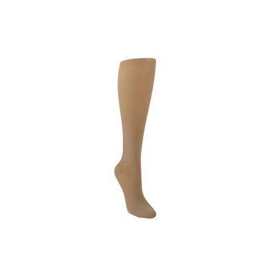 Sigvaris Soft Opaque 841CMLO35 15-20mmHg Open Toe Calf Length Medium Long Women Nude