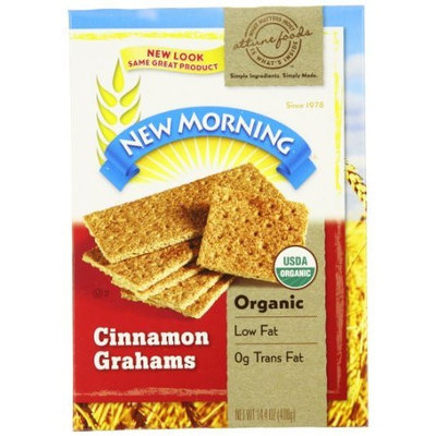 New Morning Morning Organic Cinnamon Grahams, 14.4-Ounce Boxes (Pack of 12)