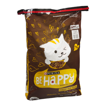 Purina Be Happy Crunchies with Chicken & Turkey Flavors Cat Food