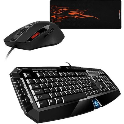 Sharkoon Keyboard, Mouse and Mouse Pad Bundle