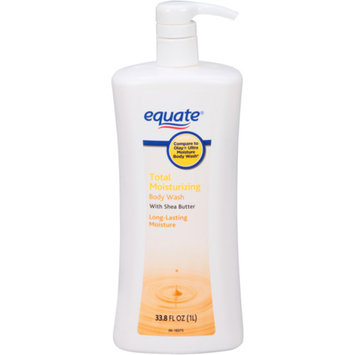 Equate Total Moisturizing Body Wash with Shea Butter, 33.8 fl oz