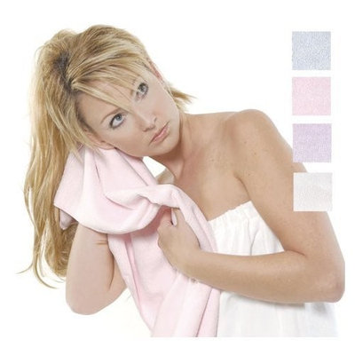 Spa Sister Bath Accessories Microfiber Hair Towel, Pink