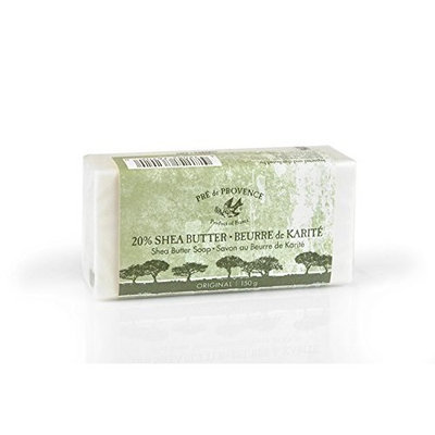 Pre de Provence Enriched, Soothing & Moisturizing 20% Pure Shea Butter Soap - 150 Gram Bar - Original