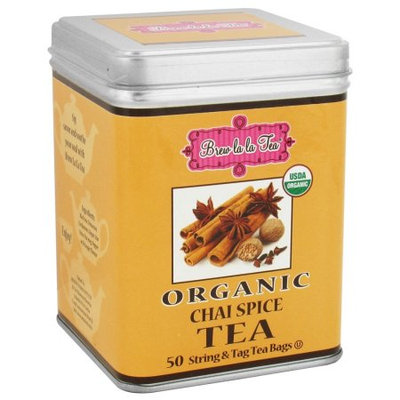 Brew La La - Organic Tea Chai Spice - 50 Tea Bags