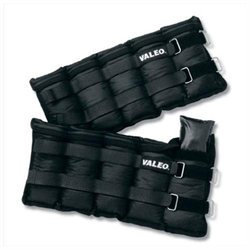 Valeo Set of 2 Adjustable Ankle/Wrist Weights - 10 lbs