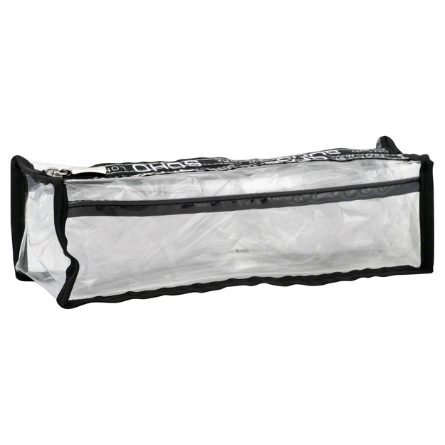 Soho Basics Pencil Case, Long, Clear, 1 case