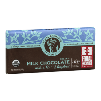 Equal Exchange Organic Milk Chocolate With A Hint Of Hazelnut
