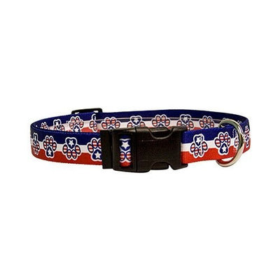 Yellow Dog Design PP100TC Patriotic Paws Standard Collar - Teacup