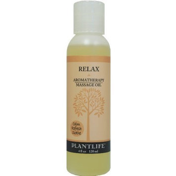 Plantlife Natural Body Care Relax Aromatherapy Massage Oil - 4 oz. by Plantlife Beauty