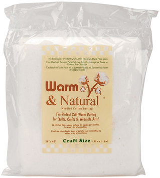 Warm Company Batting 208765 Warm & Natural Cotton Batting-Craft Size 34 in. x 45 in.