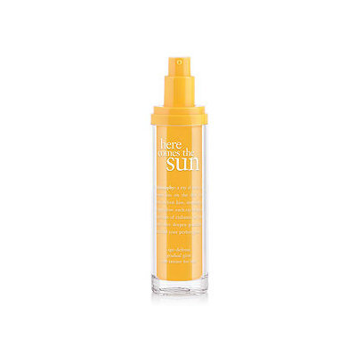 philosophy here comes the sun age-defense gradual glow self-tanner for face