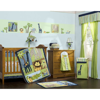 Kids Line 8-pc. Tribal Tails Crib Set (Blue/Green)