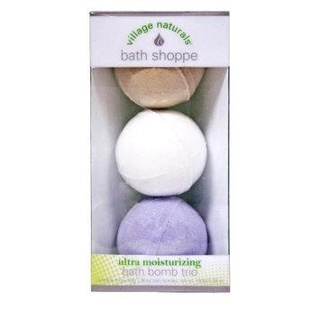 Village Naturals Bath Shoppe Bath Bomb Trio (Lavender, Vanilla & White Tea) 5.28 oz