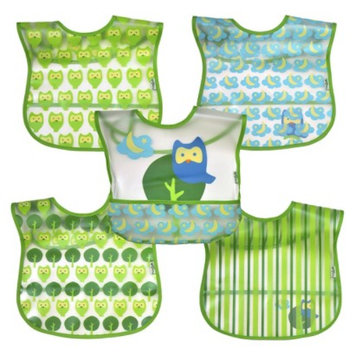 Green Sprouts green sprouts 5 Pack Bib - Owl