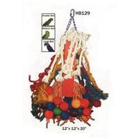 A & E Cage Co. Giant Rope and Wood Beaded Bird Toy