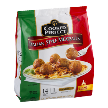 Cooked Perfect Italian Style Meatballs Dinner Size