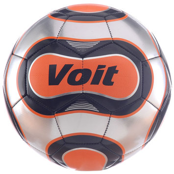 Voit Reflect Official Size 5 Soccer Ball Silver/Orange/Black Graphic