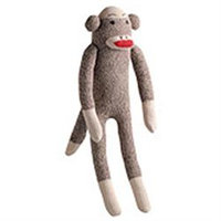 Midwest Multipet Sock Pals Monkey Dog Toy 10in
