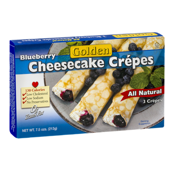 Golden Blueberry Cheesecake Crepes - 3 CT