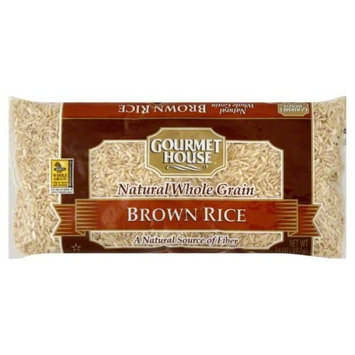 Gourmet House Brown Rice, 14-Ounce (Pack of 12)