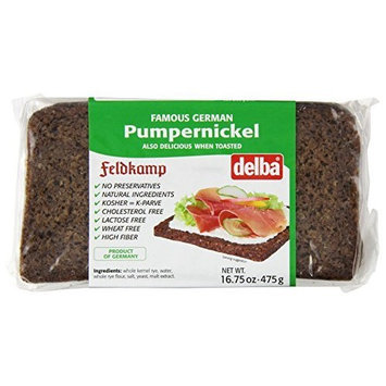 Feldkamp Pumpernickel Bread , 16.75-Ounce Vacuum Packs (Pack of 12)