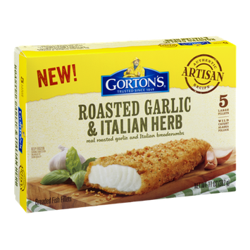 Gorton's Breaded Fish Fillets Roasted Garlic & Italian Herb - 5 CT