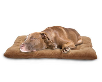 FurHaven Watches Camel Terry & Suede Nap Mat Pet Bed