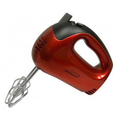 Brentwood Appliances HM46 5Speed Hand Mixer Red