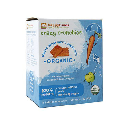 Happy Times Organic Superfood Crazy Crunchies Bits Apple Carrot