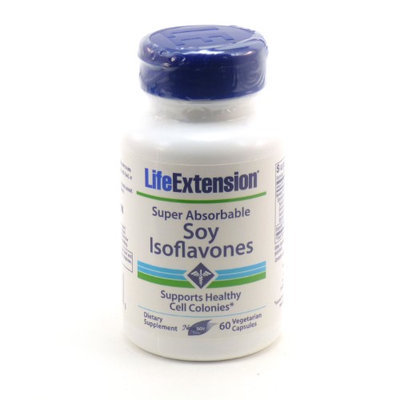 Life Extension Super Absorbable Soy Isoflavones 60 Vegetarian Capsules