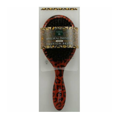 Earth Therapeutics Large Lacquer Pin Cushion Brush with Leopard Design 1 Brush
