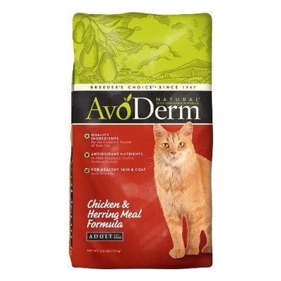 AvoDerm Natural Chicken & Herring Meal Indoor Adult Cat Food, 3.5-Pound