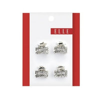 Elle Rhinestone Jaw Clips, 4-Count