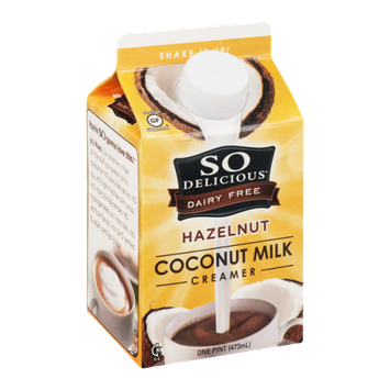 So Delicious Dairy Free Coconut Milk Creamer Hazelnut