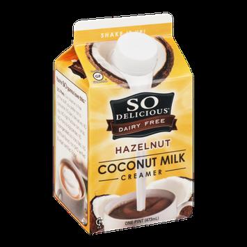 So Delicious Dairy Free Coconut Milk Creamer Hazelnut