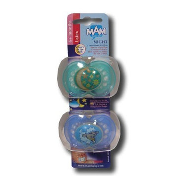 MAM LATEX 6 MONTHS NIGHT 2 ORTHODONTIC PACIFIERS