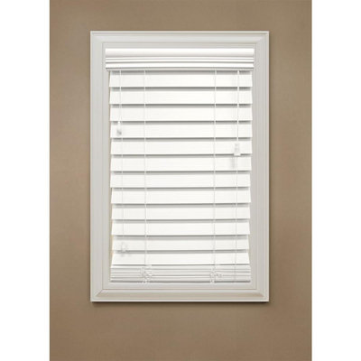 Home Decorators Collection Faux Wood Blinds. Maple 2-1/2 in. Premium Faux Wood Blind, 72 in. Length