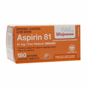 Walgreens Low Dose 81mg Aspirin Safety Coated Tablets, 180 ea