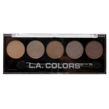L.A. Colors 5 Color Metallic Eyeshadow, Tea Time, .26 oz