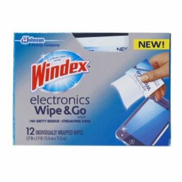 Windex Electronics Wipe & Go, 12 ea