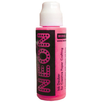 Crown Marking Equipment Co. Hero Arts Neon 1 Ounce Daubers-Neon Pink