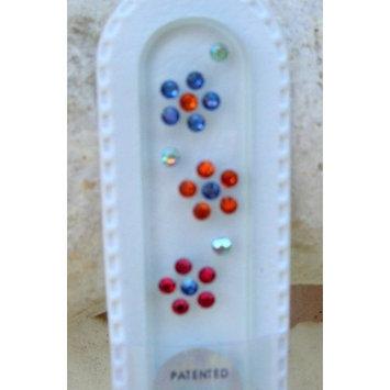 Mgi Blazek Glass Nail File with Swarovski Crystals - Three Flowers