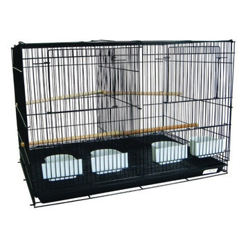 Yml Group YML Breeding Bird Cage with Divider Black