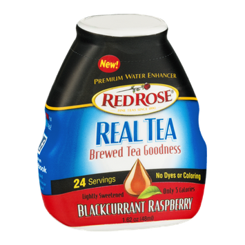 Red Rose Real Tea Premium Water Enhancer Blackcurrant Raspberry